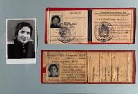 Фото и удостоверения Богомольной З.Б. о работе в 1941-1945 в прокуратурах Московской области и ТАССР. 1940-е