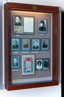 Стенд в музее с фото и документами участников Великой Отечественной войны.2014