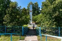 Стела. Село Большая Атня. 2014