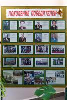 Стенд Высокогорского краеведческого музея, посвященный мероприятиям в честь Великой Победы в районном центре Высокая Гора. 2014