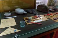 Фрагмент экспозиции Высокогорского краеведческого музея, посвященный участникам Великой Отечественной войны. 2014
