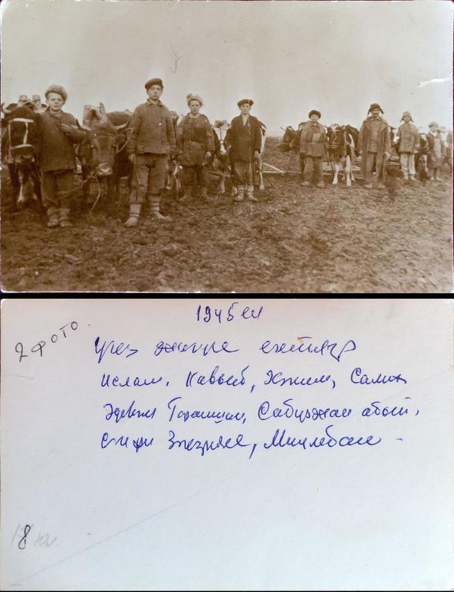 Фото №4577. Фото. Колхозники на пахоте. 1945