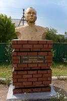 Бюст Меркушев А.В. (1918-1986) - майор, Герою Советского Союза в Аллее героев Рыбно-Слободского района. 2014