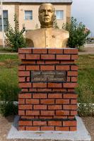 Бюст Сергееву А.Т. (1916-1979) - Герою Советского Союза в Аллее героев Рыбно-Слободского района. 2014