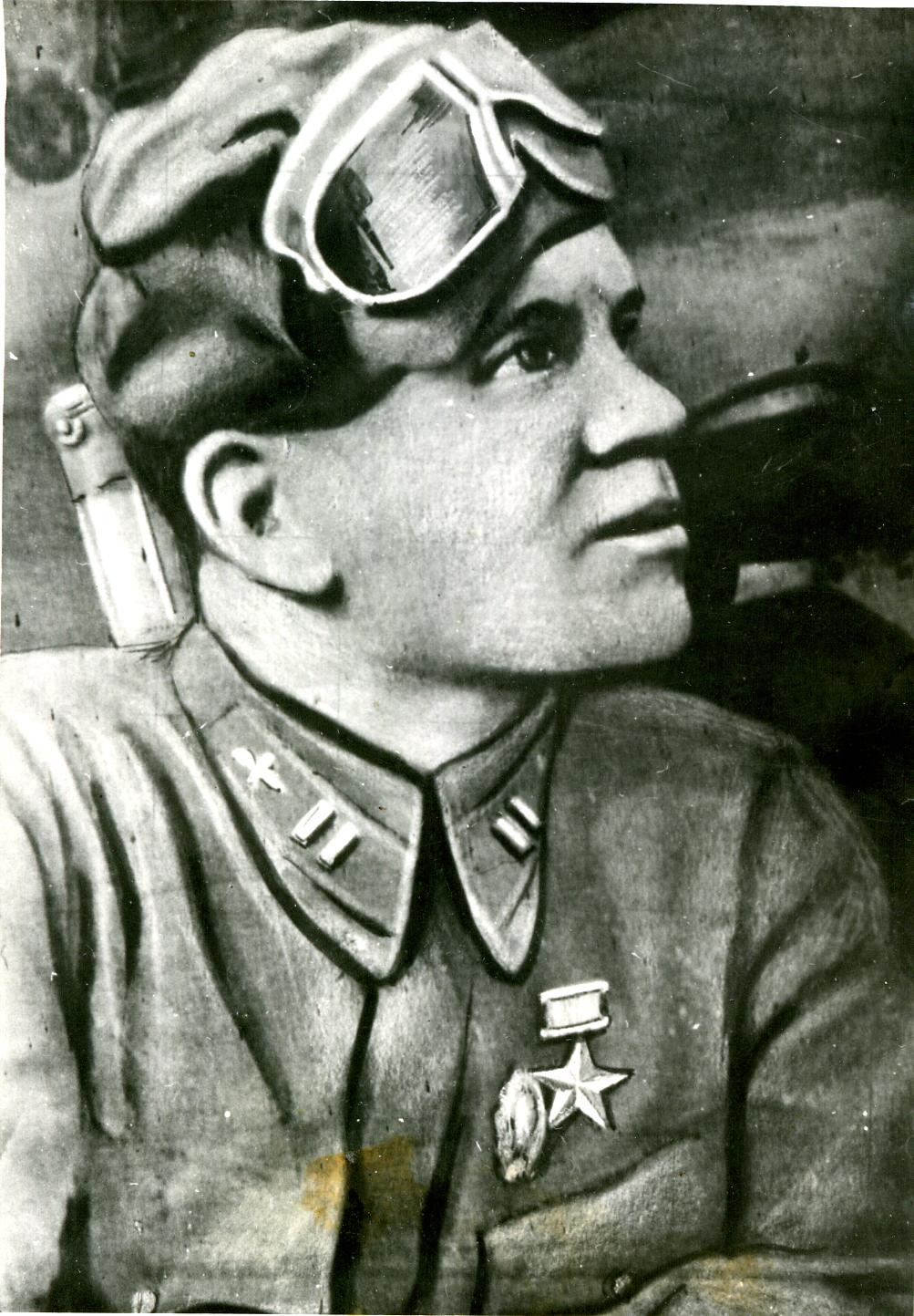 Капитан Ф.М. Фаткуллин – Герой Советского Союза. 1941 ©Tatfrontu.ru Photo Archive