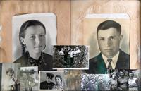 Страница семейного альбома Козлова В.П. (1918 г.р.) - участника Великой Отечественной войны.