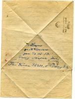 Письмо-треугольник Чижу М.Н. октябрь,1944