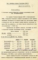 Справка о работе областной станции переливания крови при Татнаркомздраве. 6 ноября 1941 года