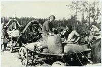 Фото. Сдача хлеба государству. 1943  На ссыпном пункте Высокогорского района ТАССР