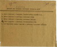 Список дивизий,  над которыми шефствует Татарская АССР. 1 Февраля 1943 года